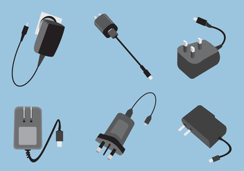 Various Type of Phone Charger Vector - vector gratuit #352125
