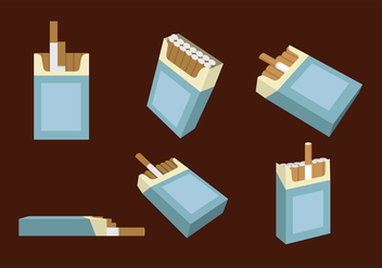Packs of Cigarette Vector - бесплатный vector #352145