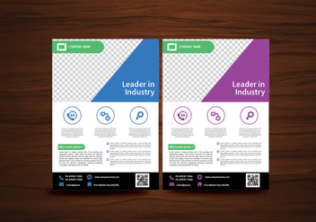 Vector Brochure Flyer design Layout template in A4 size - бесплатный vector #352175