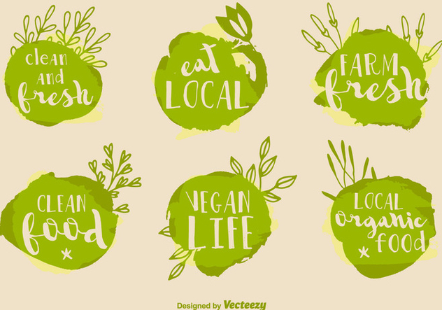 Healthy Food Vector Signs - бесплатный vector #352205
