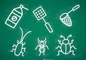 Pest Control Doddle Icons Sets - Free vector #352215