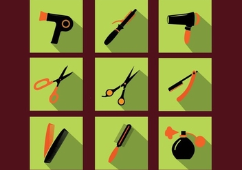 Barber Tools Icon Vectors - Kostenloses vector #352245