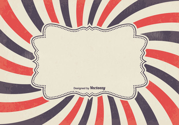 Retro Sunburst Vector Background - vector gratuit #352275