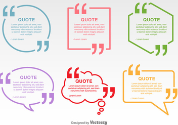 Minimal Quotation Marks Vector Labels - vector gratuit #352295