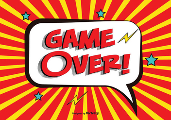 Comic Game Over Vector Illustration - бесплатный vector #352305