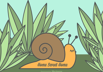 Free Vector Home Sweet Home Snail - бесплатный vector #352355