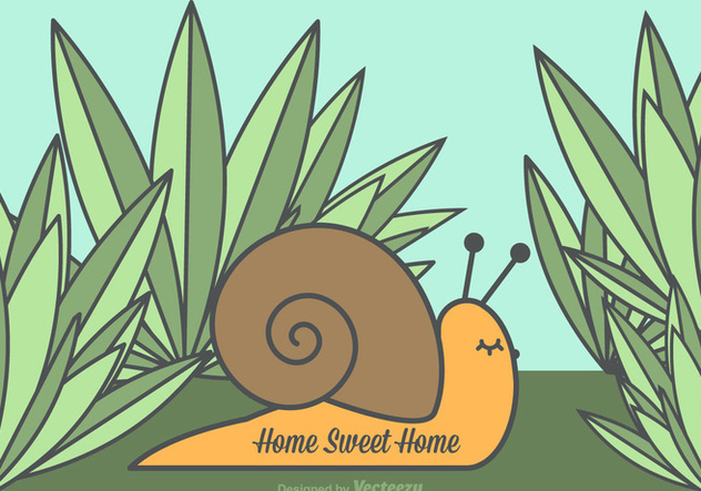 Free Vector Home Sweet Home Snail - Free vector #352355