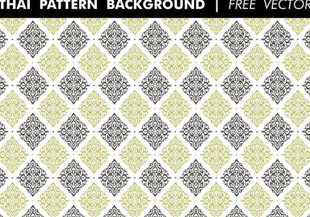 Thai Pattern Background Free Vector - vector gratuit #352425