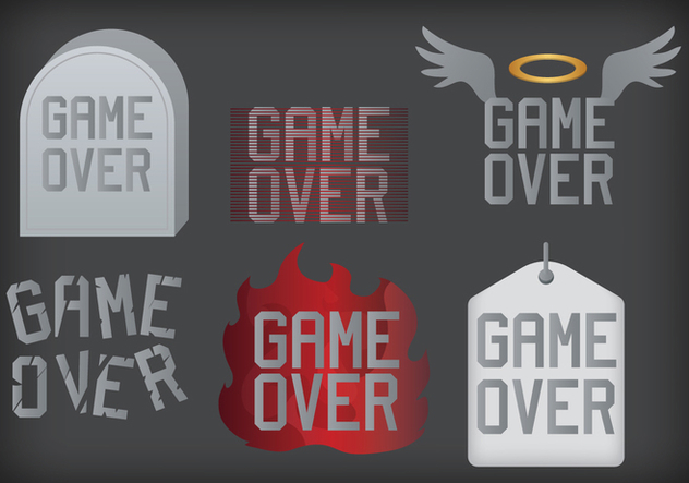 Game Over Vector - vector gratuit #352455