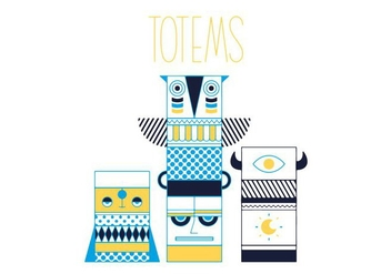 Free Totems Vector - vector gratuit #352485
