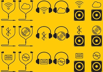 Ear Buds Icons - vector gratuit #352495