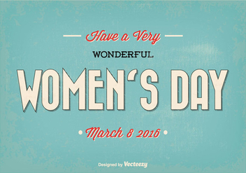 Happy Woman's Day Retro Vector Illustration - Free vector #352505