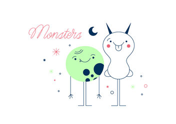 Free Monsters Vector - бесплатный vector #352615