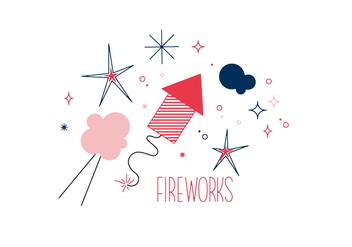 Free Fireworks Vector - Free vector #352645