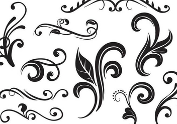 Free Flourishes Vectors - бесплатный vector #352705