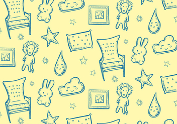 Kids Room Pattern - Free vector #352715