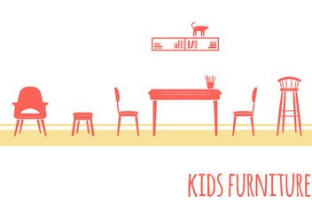 Kids Room Furniture - бесплатный vector #352745