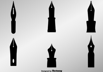 Elegant Pen Nib Vector Background - vector gratuit #352775