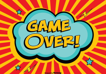 Comic Style Game Over Illustration - vector gratuit #352835