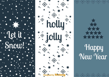 New Year's cards sets - Free vector #352895