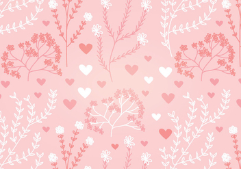 Floral Heart Vector Seamless Pattern - Free vector #352915