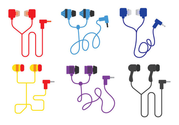 Ear Buds Vector - Free vector #352955