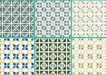 Talavera Vector Patterns - vector gratuit #352985