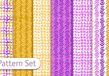 Colorful Decorative Textile Pattern Design Set - vector gratuit #353005