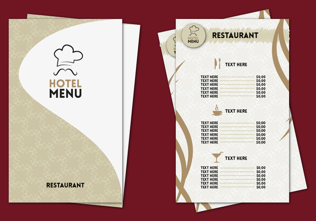 Hotel Menu Professional Template Vector - Free vector #353015
