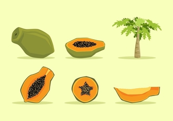 FREE PAPAYA VECTOR - бесплатный vector #353045