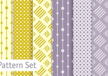 Soft Pastel Geometric Pattern Set - vector gratuit #353085