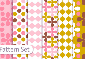 Retro Decorative Geometric Pattern Set - vector gratuit #353105