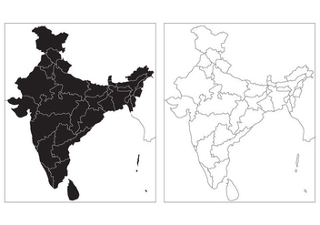 Free State Map of India Vector - vector #353115 gratis