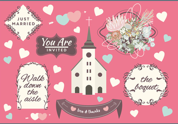 Free Wedding Vector Elements - Kostenloses vector #353135