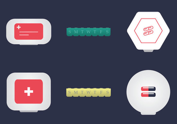 Free Pill Box Vector Illustration - vector #353145 gratis