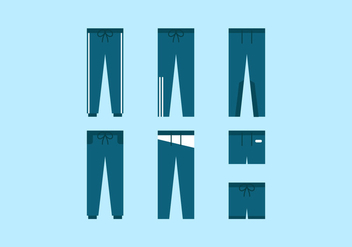 Vector Sweatpants - vector gratuit #353165