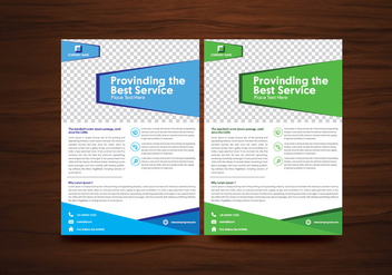 Blue and Green Vector Brochure Flyer Design Vector - бесплатный vector #353185