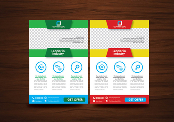Vector Brochure Flyer Design Layout Template Vector - vector #353195 gratis