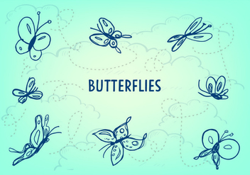 Free Butterfly Icon Vector - Kostenloses vector #353205
