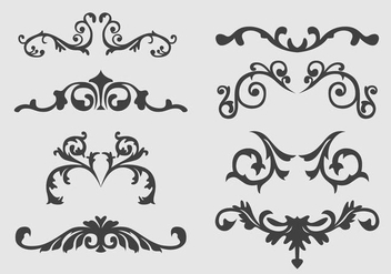 Western Flourish Ornament vector - бесплатный vector #353265