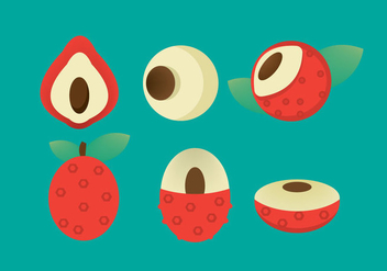 Free Lychee Vector Icon - Free vector #353285
