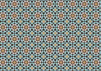 Moroccan Mosaic Pattern Bacground - Kostenloses vector #353305