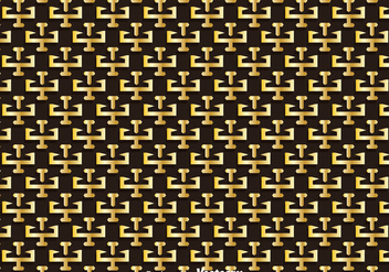 Gold Greek Key Pattern - vector gratuit #353495
