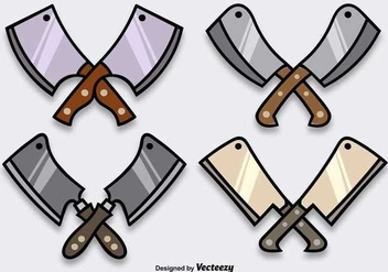 Cartoon Shiny Cleaver Vectors - бесплатный vector #353505
