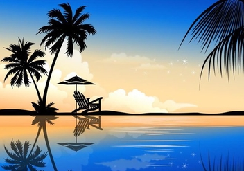 Beautiful Palm Summer Vector Background - vector gratuit #353595