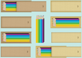 Wood Pencil Vector Cases - бесплатный vector #353635