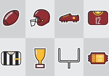American Football Icon - vector gratuit #353655