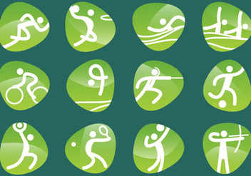 Vector Olympic Pictograms - vector gratuit #353695