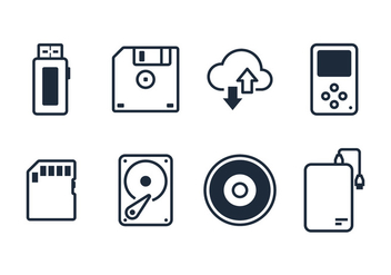 Digital Driver Line Icon Vectors - бесплатный vector #353705