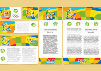 Olympic Tempalte Vector Designs - бесплатный vector #353745